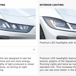 Standard vs Premium LED headlights
